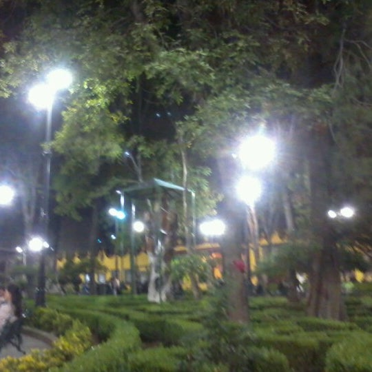 Photo taken at Jardín Hidalgo by Tania S. on 10/13/2012