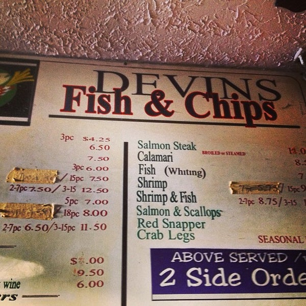 Devin 39 s fish chips now closed hamilton heights new for Devins fish and chips