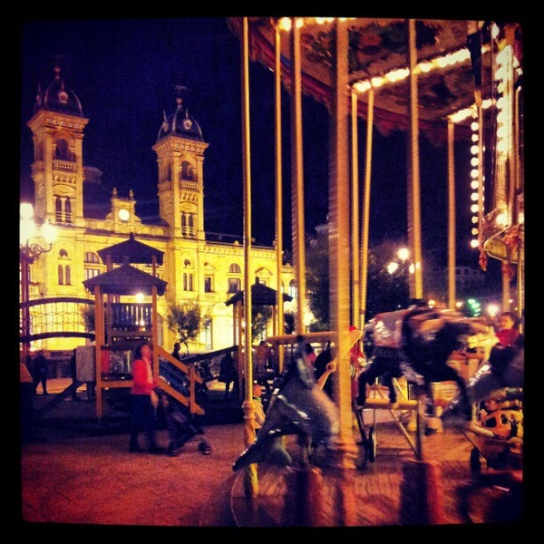 Photo taken at Paseo de La Concha by Fabian G. on 10/12/2012