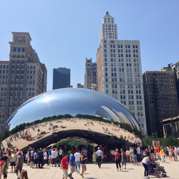 Photo taken at Cloud Gate by Ross S. on 8/10/2013