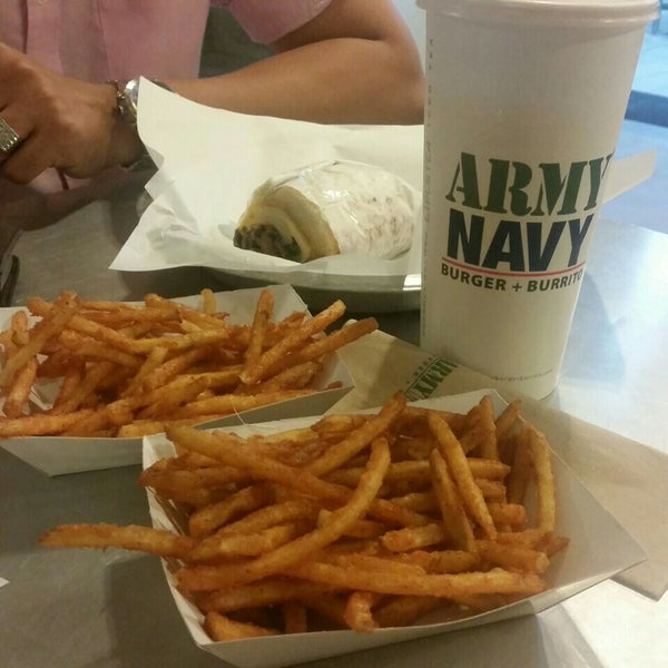 Photo taken at Army Navy Burger + Burrito by Kait M. on 6/24/2015