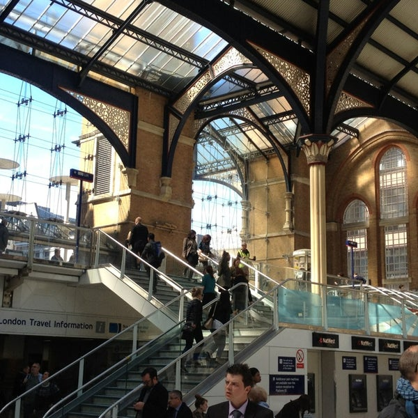 Photo taken at London Liverpool Street Railway Station (LST) by Яна К. on 5/2/2013
