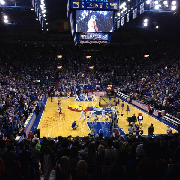 Photo taken at Allen Fieldhouse by Maddie V. on 2/25/2014