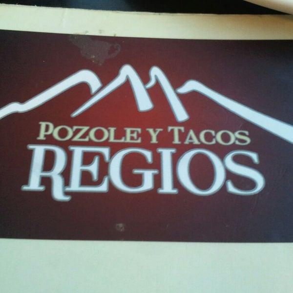 Photo taken at Pozole y Tacos Regios by Eduardo D. on 7/12/2013