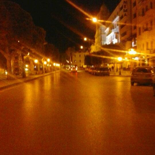 Photo taken at Avenue Habib Bourguiba by Rania S. on 12/15/2012