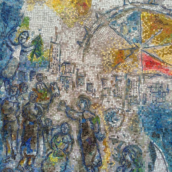 "Photo taken at Chagall Mosaic, ""The Four Seasons"" by Carolyn N. on 8/23/2013"