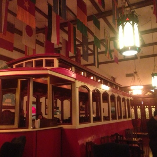 The Old Spaghetti Factory in Duarte is an Italian restaurant that affords a unique experience, in part due to a meticulously planned décor. The old-fashioned trolley car that makes up the dining hall is an exceptional touch.