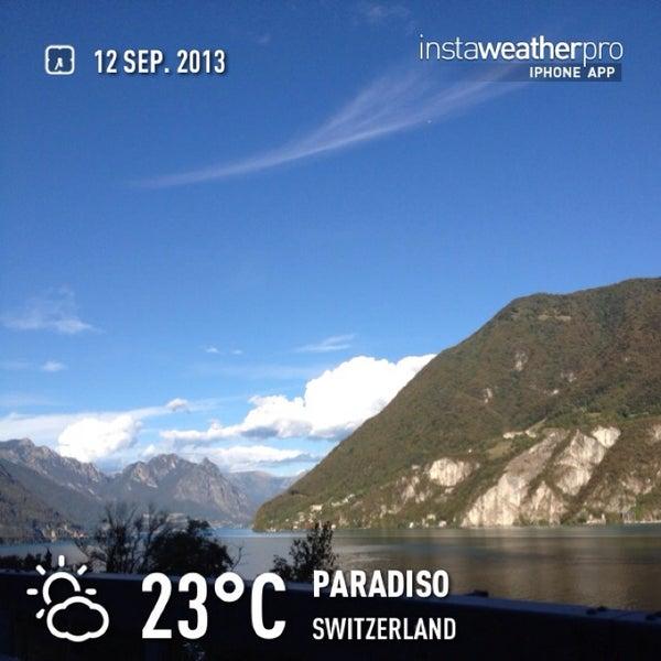 Photo taken at Lago di Lugano by Rosaria C. on 9/12/2013