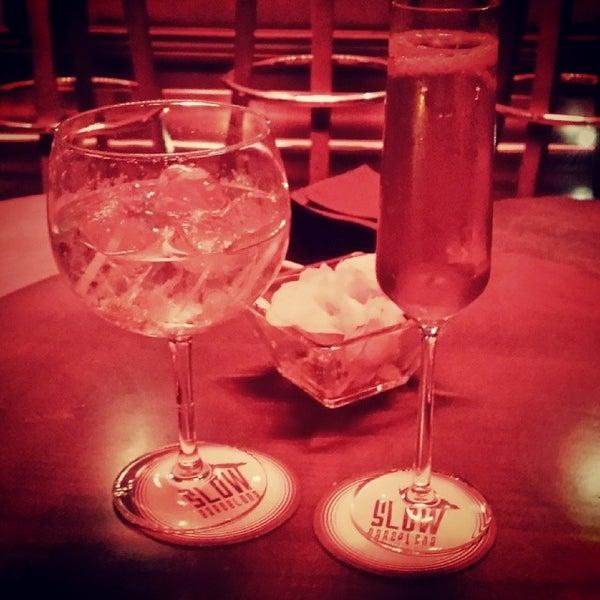 Photo taken at Slow Barcelona Cocktails & Boîte by Vanessa on 3/28/2014