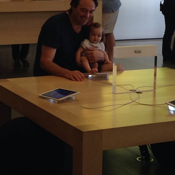 Photo taken at Apple Store, University Park Village by Leslie R. on 5/28/2014
