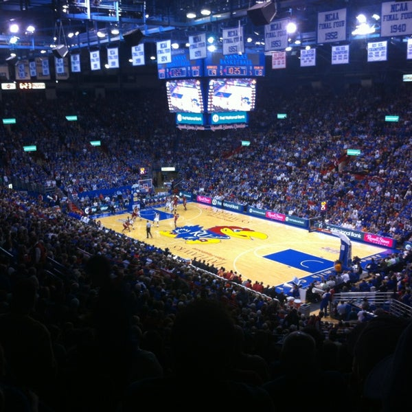 Photo taken at Allen Fieldhouse by AJ V. on 1/10/2013
