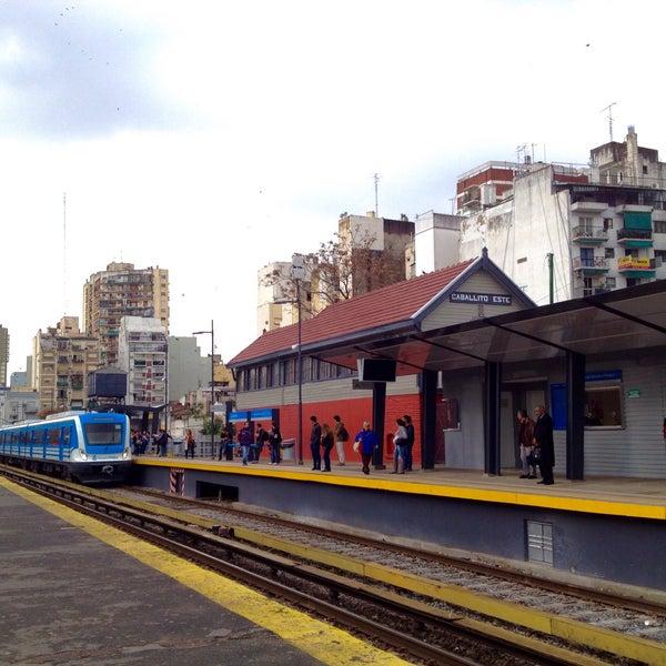 Photo taken at Estación Caballito [Línea Sarmiento] by MiKe R. on 7/1/2015