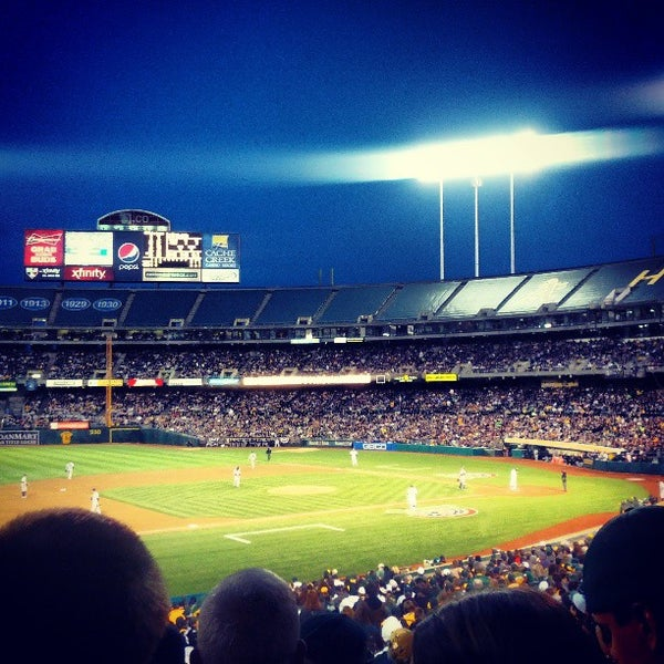 Photo taken at O.co Coliseum by Brian D. on 4/2/2013