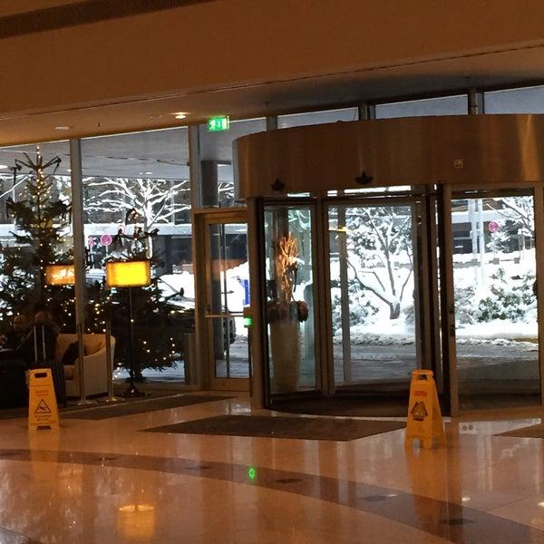 Photo taken at Hilton Munich Park by Corinna S. on 12/31/2014