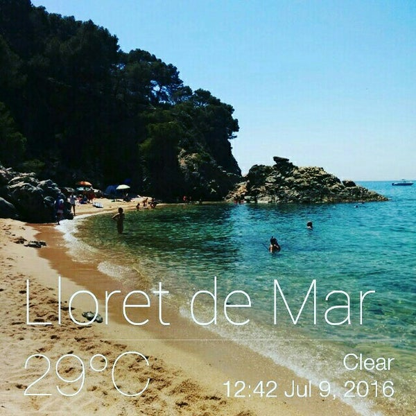 Photo taken at Cala Canyelles by Esther F. on 7/9/2016