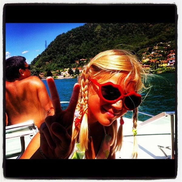 Photo taken at Lago di Lugano by Eldar A. on 7/15/2012