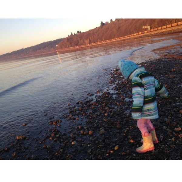 Photo taken at Carkeek Park by James T. on 1/26/2014