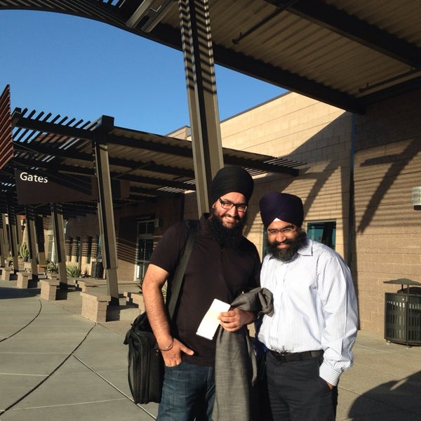 Photo taken at Phoenix-Mesa Gateway Airport (AZA) by Harpreet P. on 2/10/2014