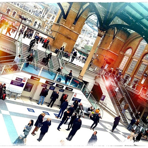 Photo taken at London Liverpool Street Railway Station (LST) by Djaia on 5/20/2013
