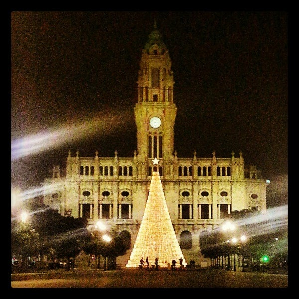 Photo taken at Avenida dos Aliados by Tiago P. on 12/28/2012