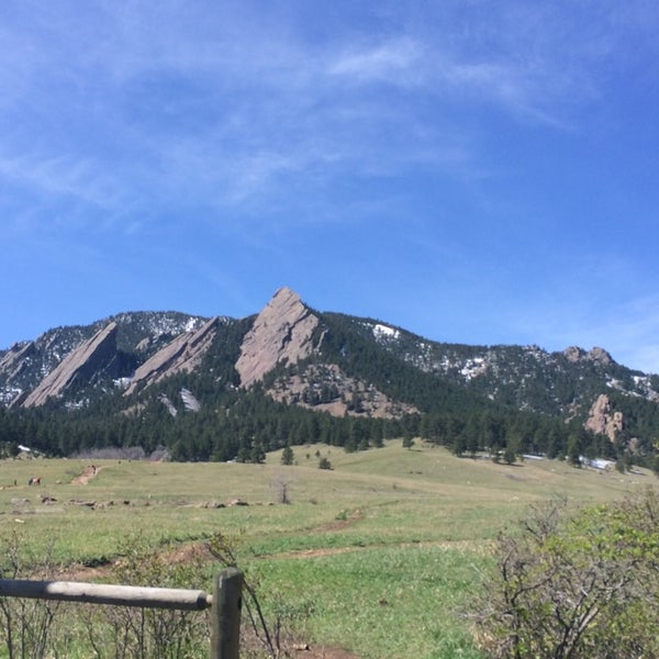 Photo taken at Chautauqua Park by Phoebe V. on 4/17/2014