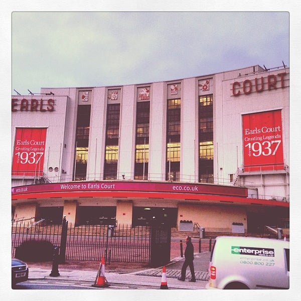Photo taken at Earls Court Exhibition Centre by David G. on 2/6/2013