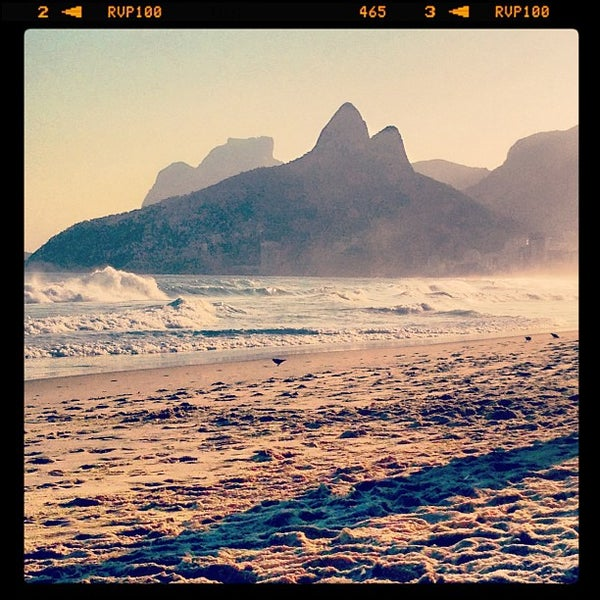 Photo taken at Praia de Ipanema by Bry G. on 5/7/2013