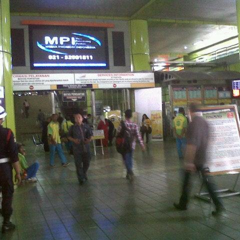 Photo taken at Stasiun Gambir by Fitri s. on 2/11/2013