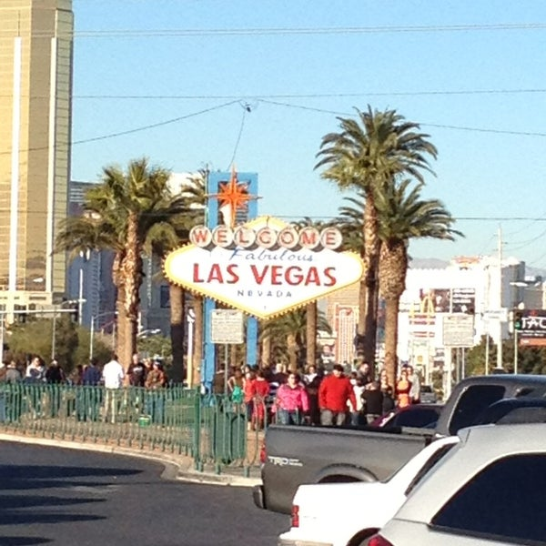Photo taken at Welcome To Fabulous Las Vegas Sign by Tim V. on 1/4/2013
