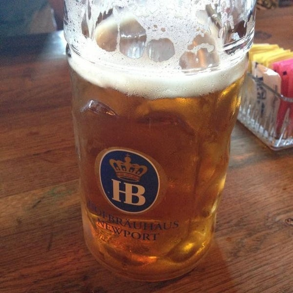 Photo taken at Hofbräuhaus Newport by Colton P. on 7/14/2013
