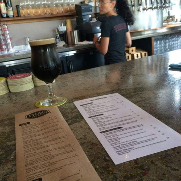 Photo taken at Ithaca Beer Co. Taproom by Robby W. on 7/7/2016