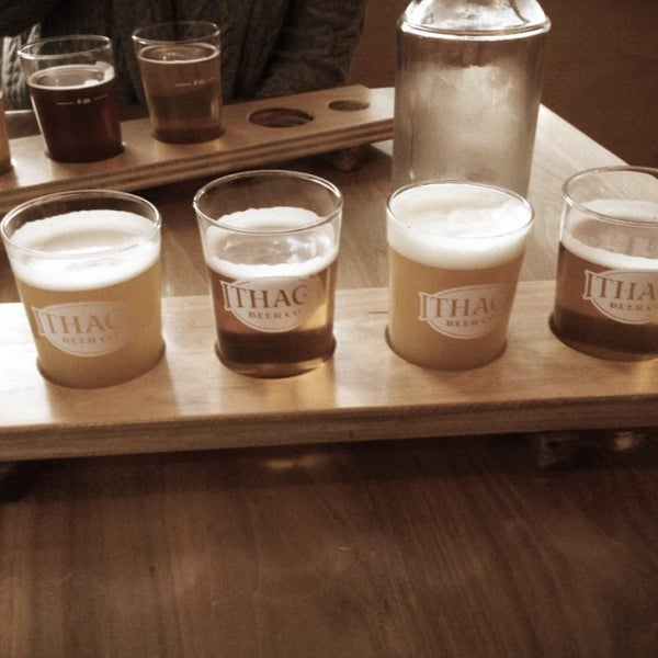 Photo taken at Ithaca Beer Co. Taproom by Brock B. on 12/2/2016