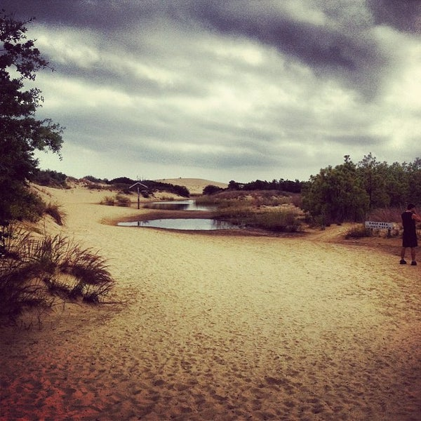 Photo taken at Jockey's Ridge State Park by Bryce B. on 10/8/2012