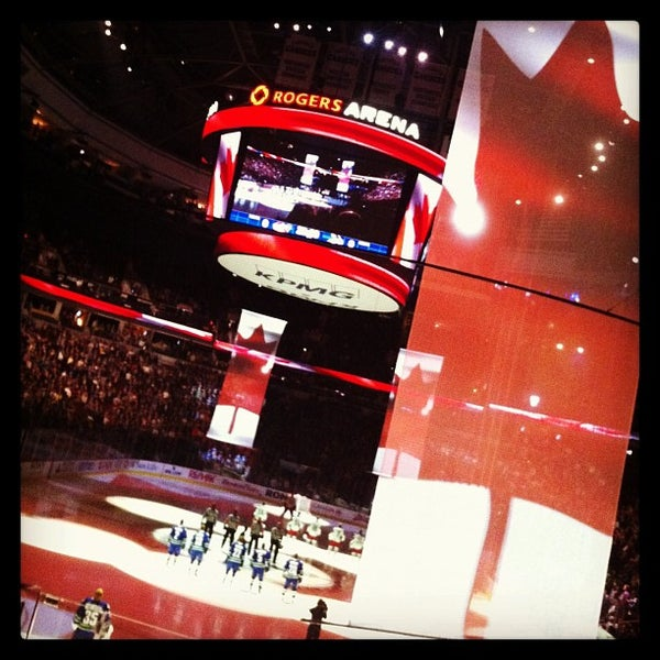 Photo taken at Rogers Arena by Jesse S. on 3/27/2013