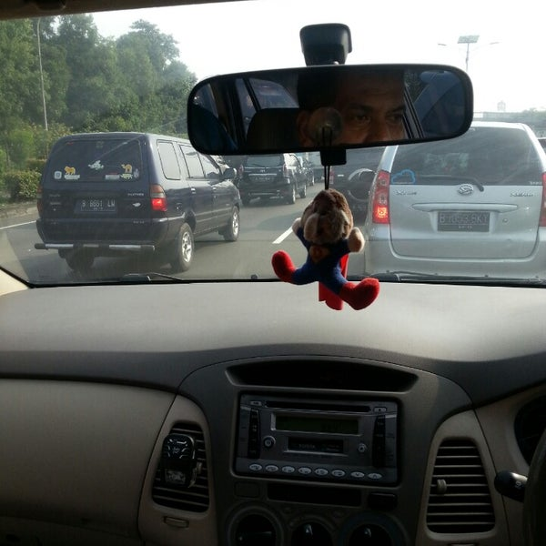 Photo taken at Gerbang Tol Cililitan by Eli A. on 6/15/2015
