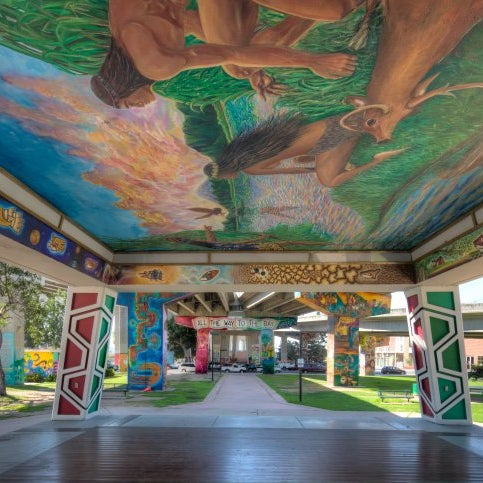 Many amazing Artists including Felipe Adame, Mario A. Charon, Ernie Galindo, Esteban Villa & Victor Ochoa have completed some murals & are continuing to restore many more.
