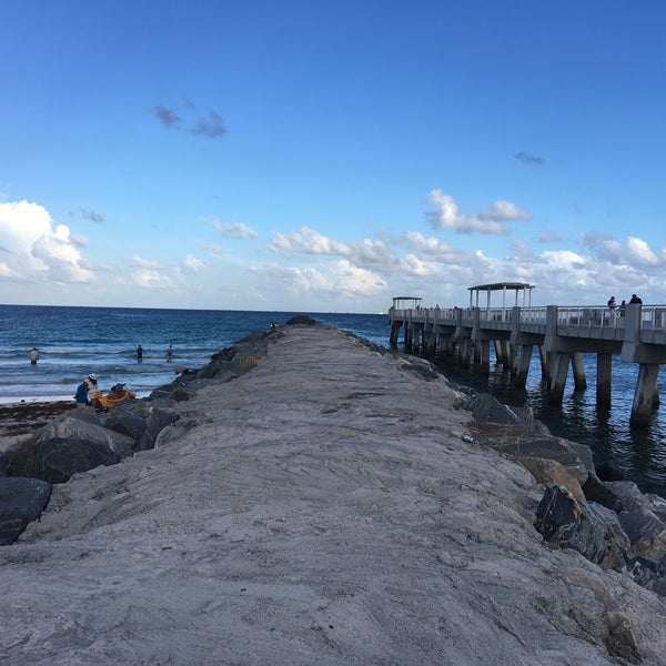 Photo taken at South Pointe Pier by Angel F. on 10/3/2016