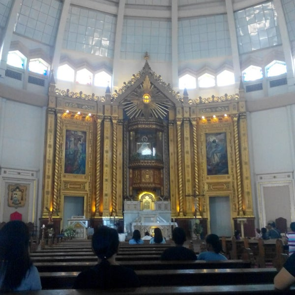 Photo taken at National Shrine of Our Lady of Peace and Good Voyage (Antipolo Cathedral) by Chiel M. on 9/29/2015