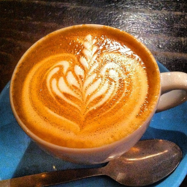 Photo taken at Flat White by sinister p. on 10/31/2012