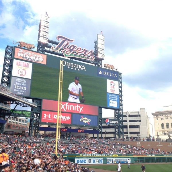Photo taken at Comerica Park by Patrick N. on 7/10/2013
