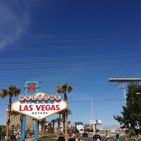Photo taken at Welcome To Fabulous Las Vegas Sign by Fabiam F. on 3/11/2013