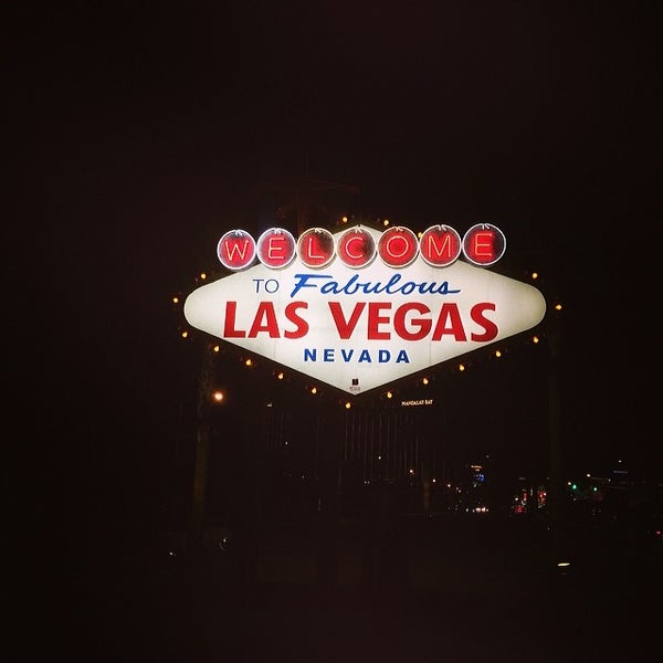 Photo taken at Welcome To Fabulous Las Vegas Sign by Derek D. on 3/3/2014