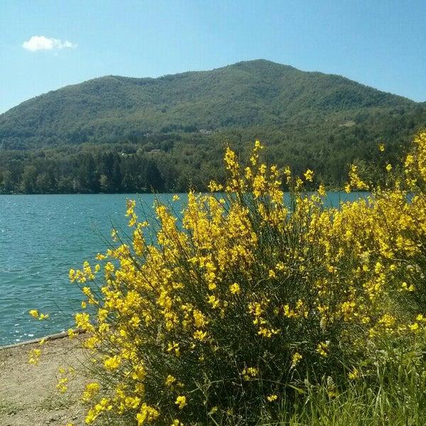 Photo taken at Lago di Suviana by Andrea C. on 6/2/2015