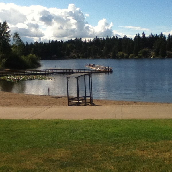 Photo taken at Steel Lake Park by Stephanie H. on 6/17/2014