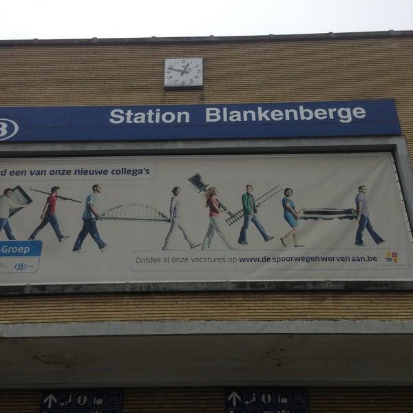 Photo taken at Station Blankenberge by Bram d. on 4/26/2013