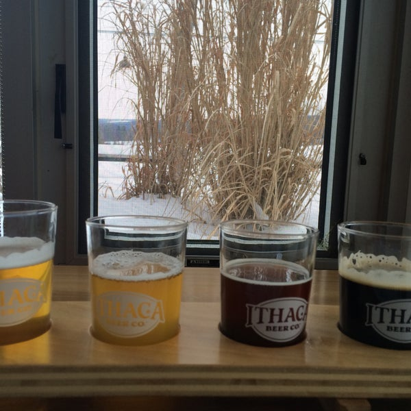 Photo taken at Ithaca Beer Co. Taproom by Deniz on 3/7/2015