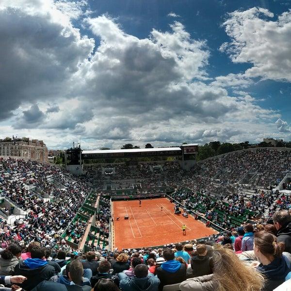 Photo taken at Stade Roland Garros by Stewart M. on 5/29/2013