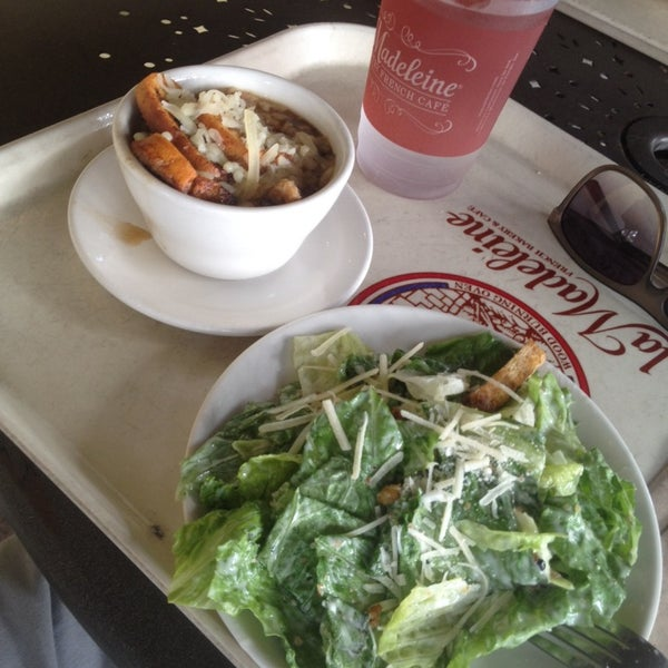 Photo taken at La Madeleine Country French Café by TJ R. on 12/3/2013