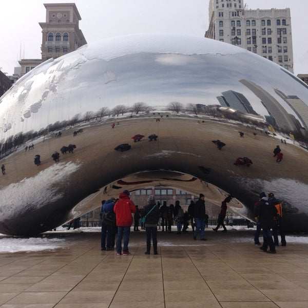 Photo taken at Cloud Gate by Fabio W. on 3/2/2014