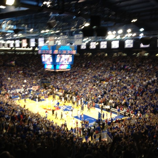 Photo taken at Allen Fieldhouse by Morgan J. on 2/26/2012